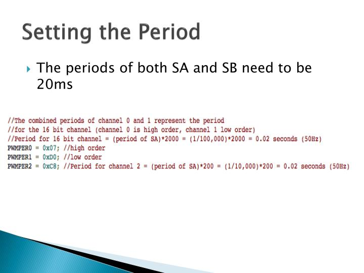 Setting the Period