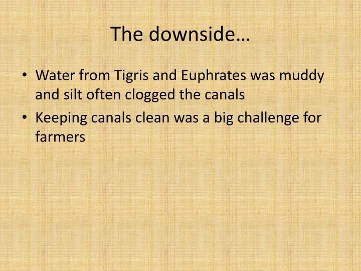 The downside…