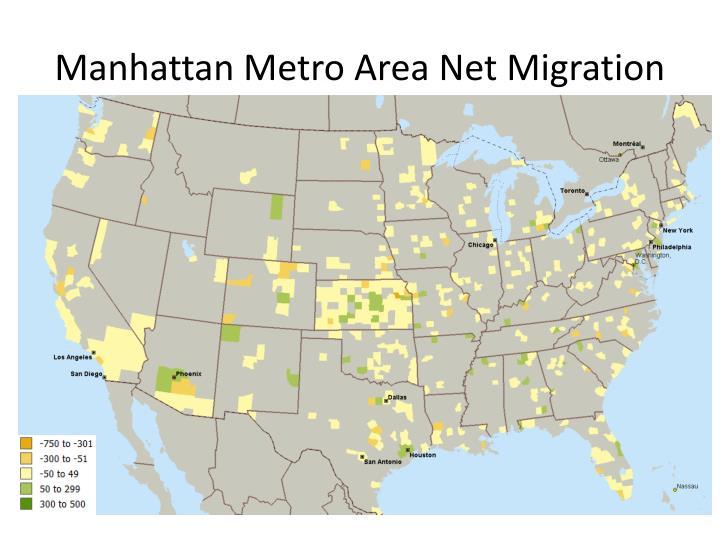 Manhattan Metro Area Net Migration