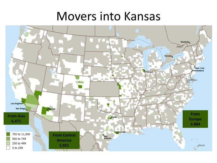 Movers into Kansas
