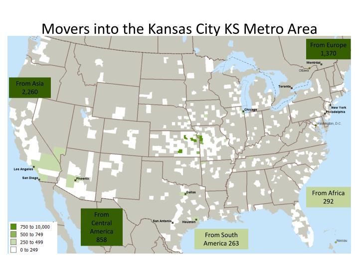 Movers into the Kansas City KS Metro Area