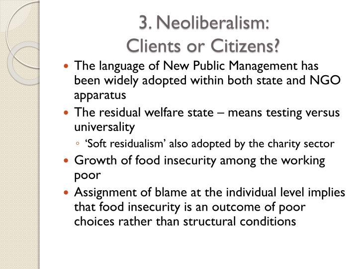 3. Neoliberalism: