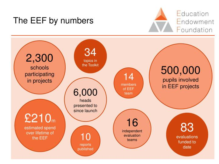 The EEF by numbers