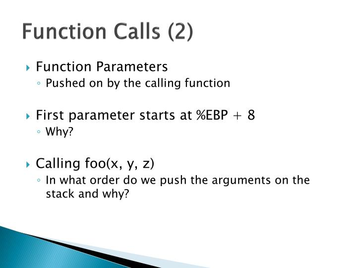 Function Calls (2)
