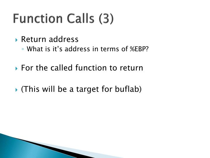 Function Calls (3)