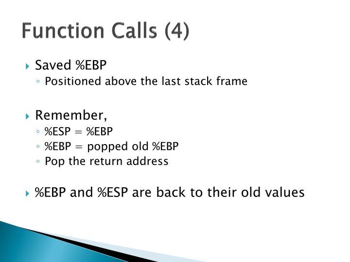 Function Calls (4)