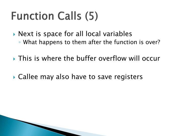 Function Calls (5)