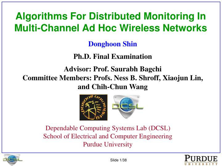 algorithms for distributed monitoring in multi channel ad hoc wireless networks