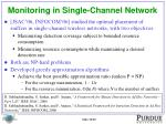 monitoring in single channel network