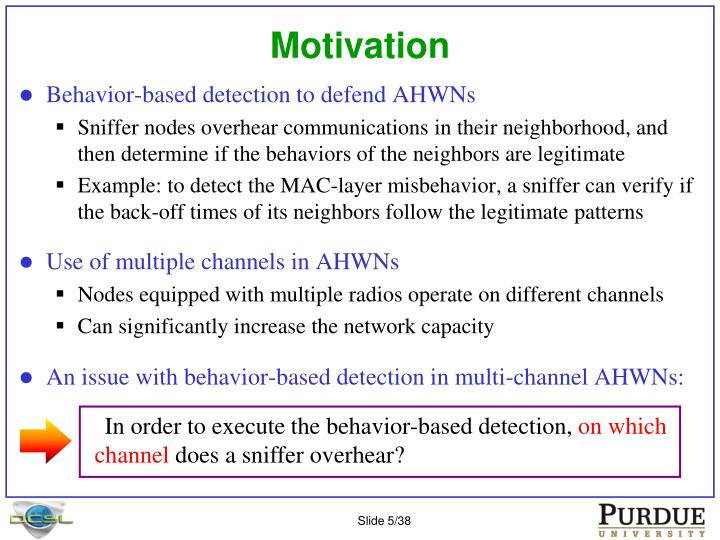 In order to execute the behavior-based detection,