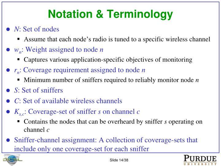 Notation & Terminology