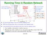 running time in random network