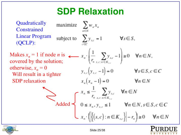 SDP Relaxation