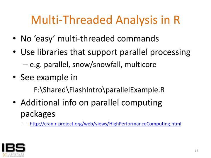 Multi-Threaded Analysis in R