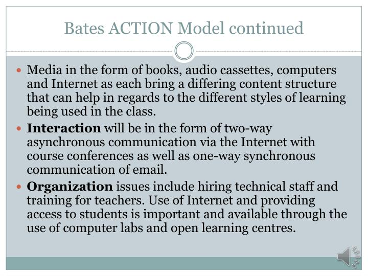 Bates ACTION Model continued