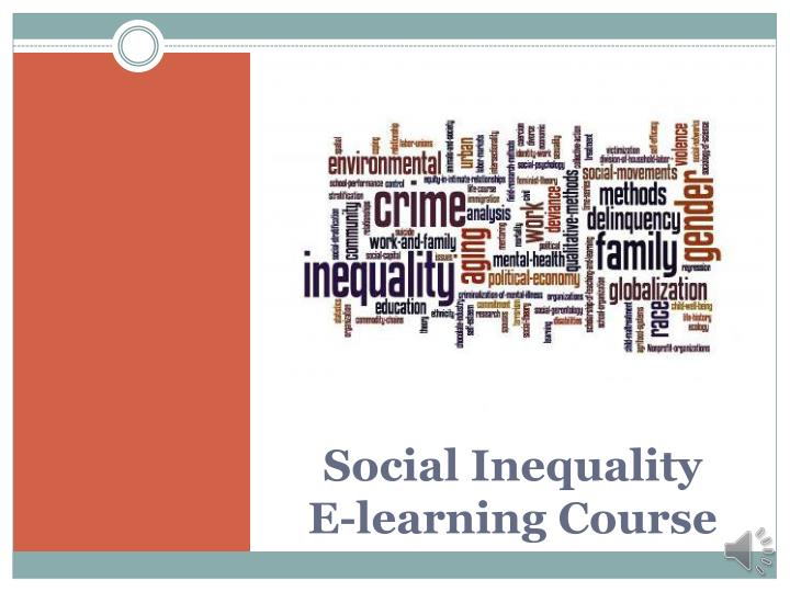 social inequality e learning course