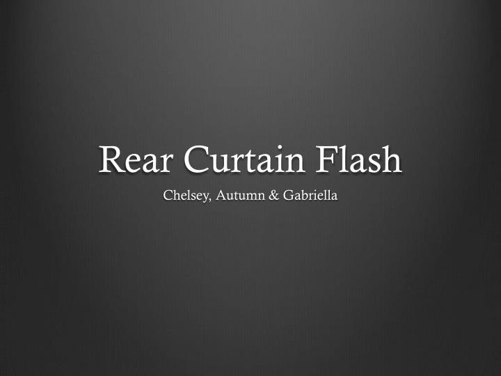 rear curtain flash