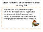 grade 4 production and distribution of writing w4