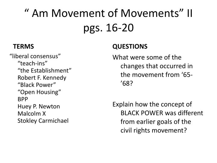 Am movement of movements ii pgs 16 20
