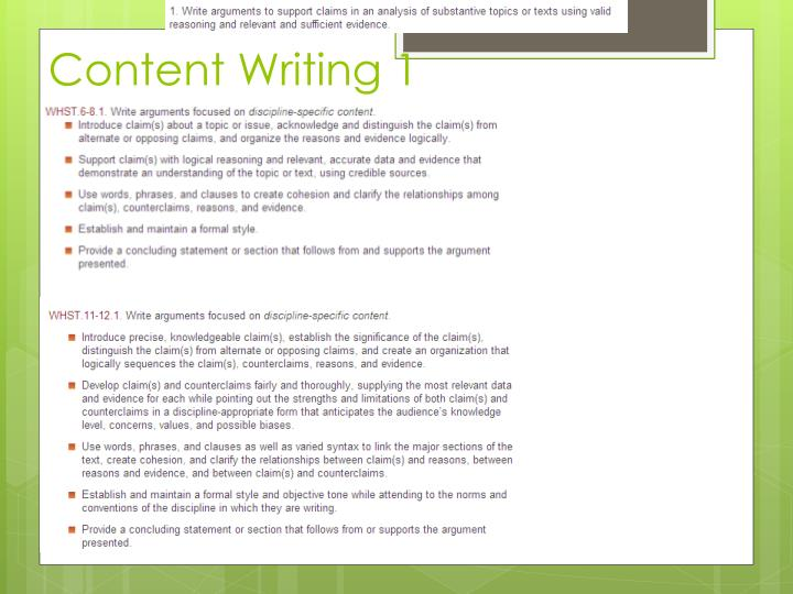 Content Writing 1