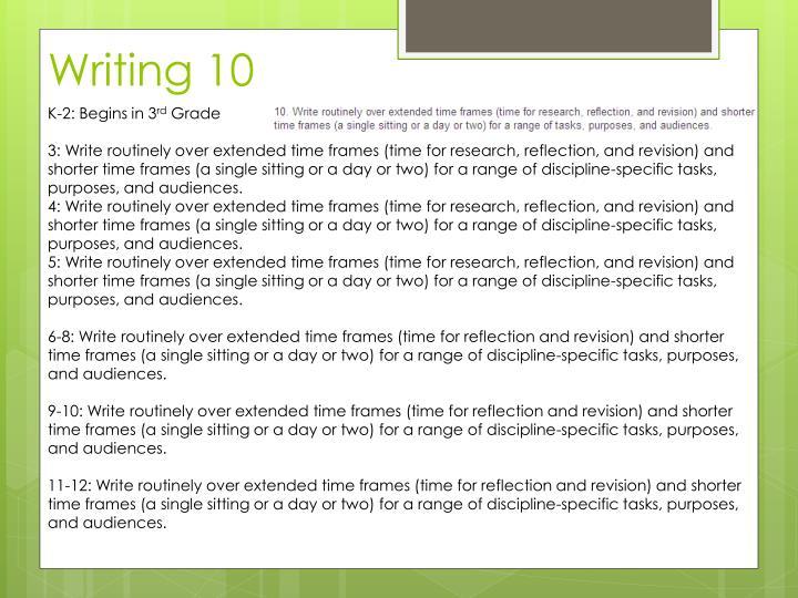Writing 10