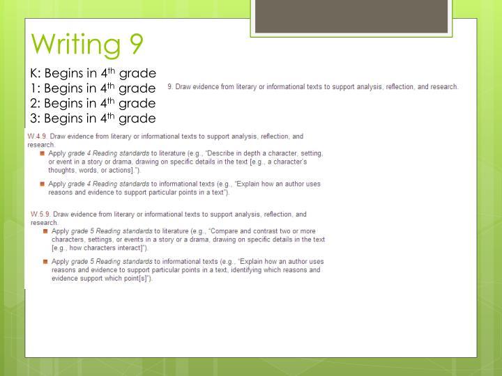 Writing 9