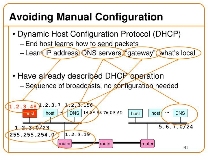 Avoiding Manual Configuration