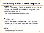 discovering network path properties