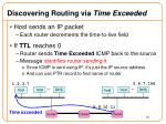 discovering routing via time exceeded