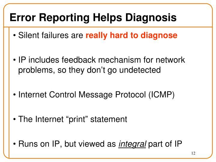 Error Reporting Helps Diagnosis