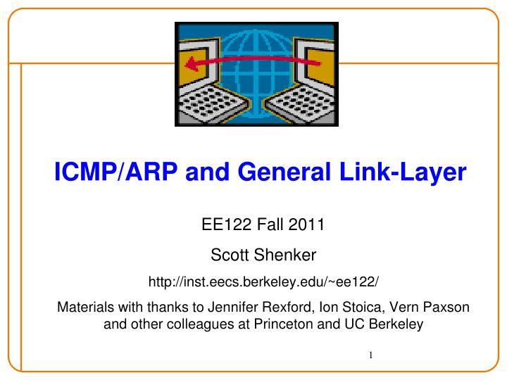 Icmp arp and general link layer