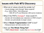 issues with path mtu discovery