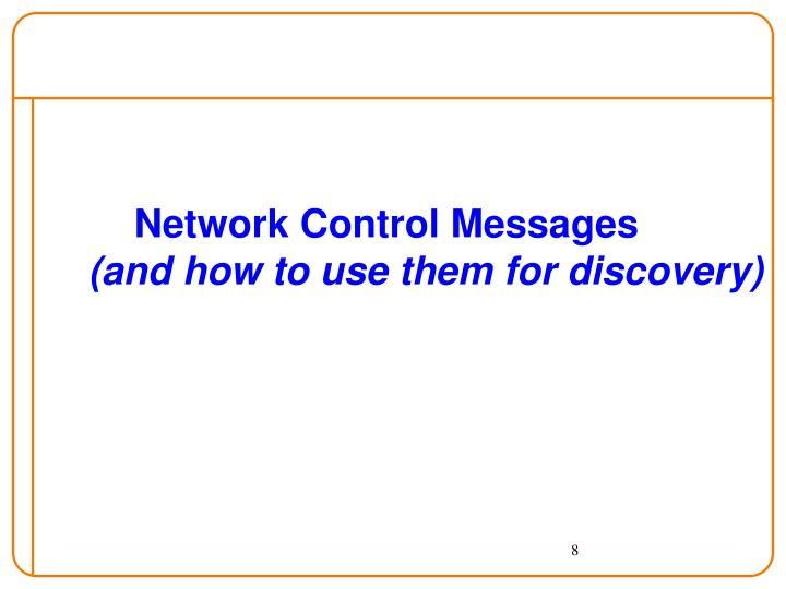Network Control Messages