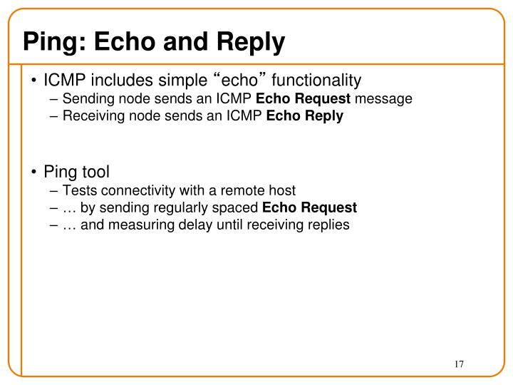 Ping: Echo and Reply