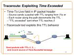 traceroute exploiting time exceeded