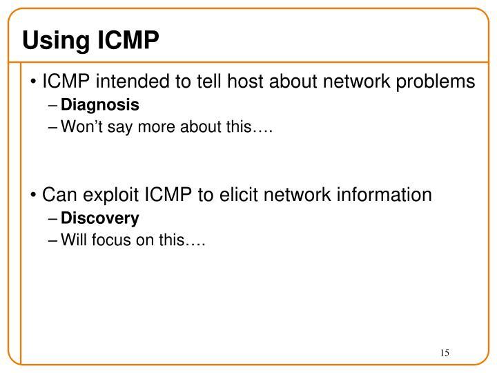 Using ICMP