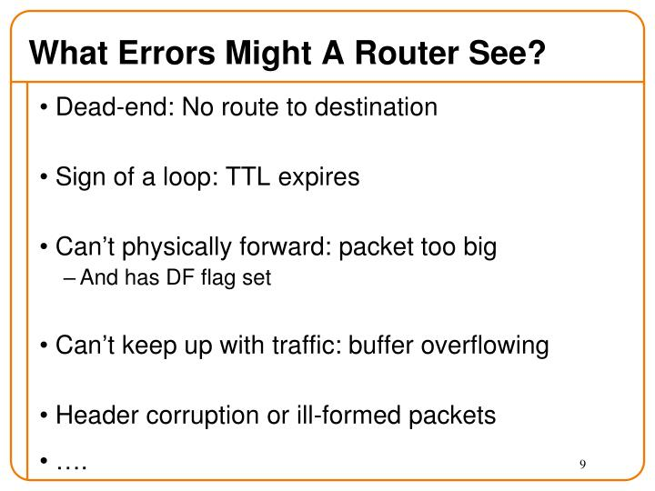 What Errors Might A Router See?