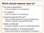 which should network react to