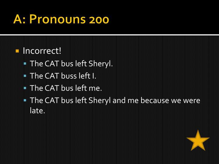 A: Pronouns 200
