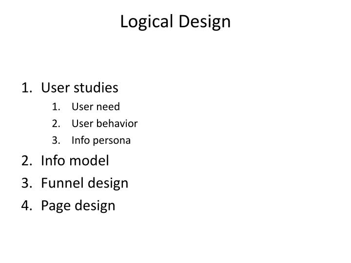 Logical design