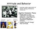 attitude and behavior