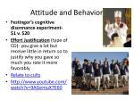 attitude and behavior1