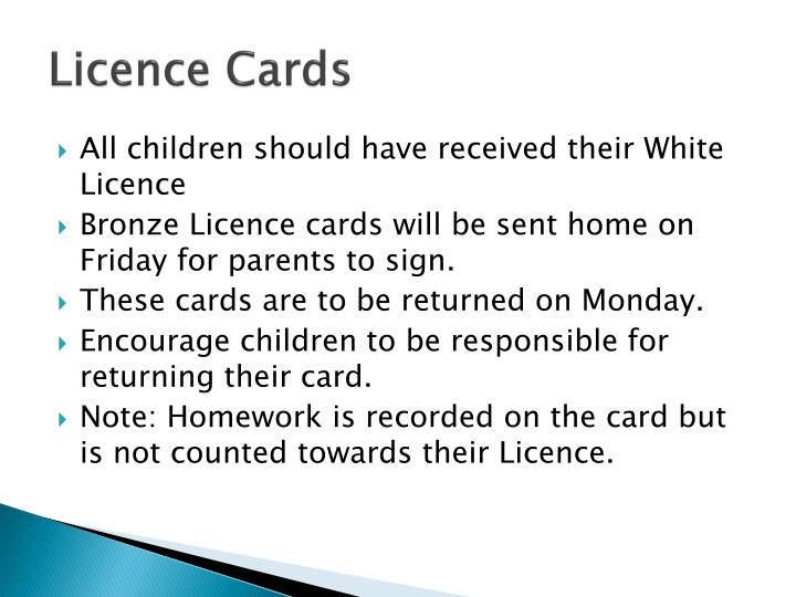 Licence Cards