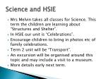 science and hsie