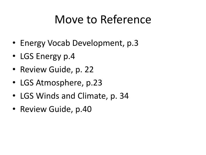 move to reference