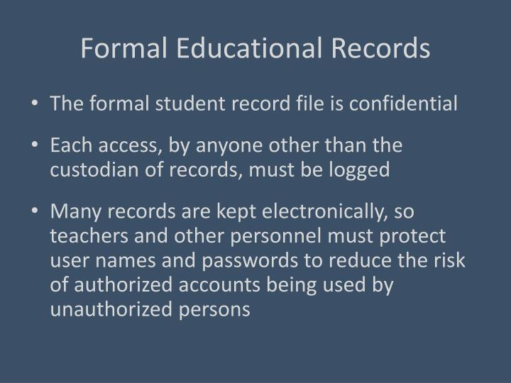 Formal Educational Records