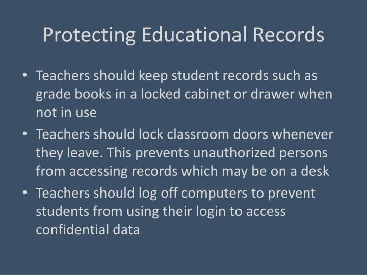 Protecting Educational Records