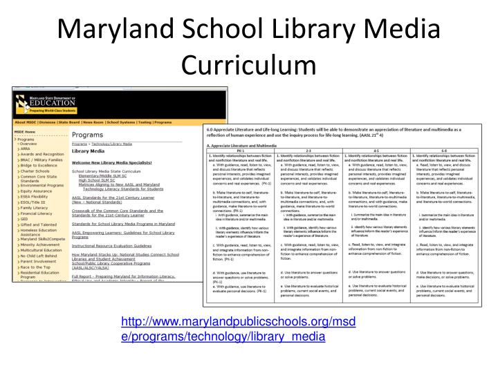 Maryland School Library Media Curriculum