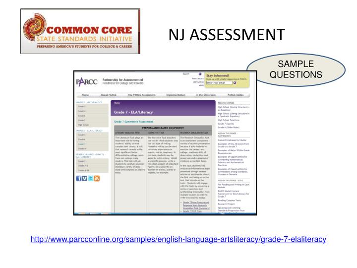 NJ ASSESSMENT