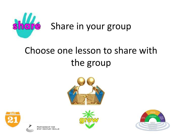 Share in your group
